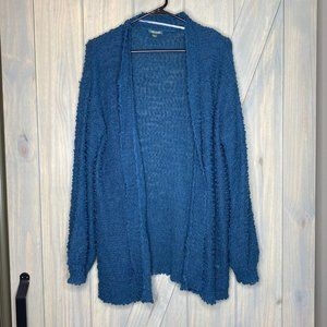 Wild Fable Teal Blue Chunky Open Knit Cardigan